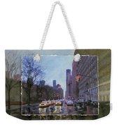 Rainy City Street Layered Weekender Tote Bag by Anita Burgermeister