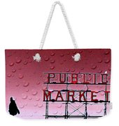 Rainy Day At The Market Weekender Tote Bag