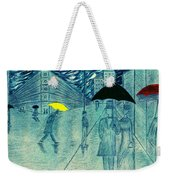 Rainy Day In The City Weekender Tote Bag