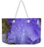 Rainy Day Iris Weekender Tote Bag