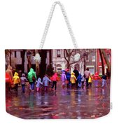 Rainy Day Rainbow - Children At Independence Square Weekender Tote Bag