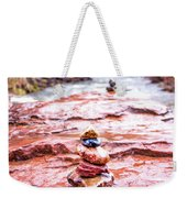 Rainy Day Stone Cairns In Sedona Weekender Tote Bag