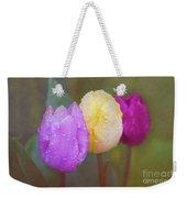 Rainy Day Tulips Weekender Tote Bag