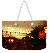 Rainy Evening Weekender Tote Bag