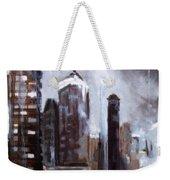 Rainy Night Downtown Weekender Tote Bag