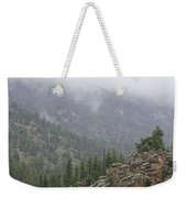 Rainy Rocky Mountain Day Weekender Tote Bag