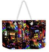 Rainy Tokyo On Acid Weekender Tote Bag