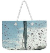 Rainy Window Needle Weekender Tote Bag