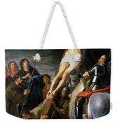 Raising The Cross Weekender Tote Bag