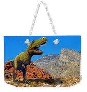Rajasaurus In The Desert Weekender Tote Bag