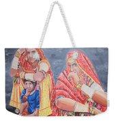 Rajasthani Ladies With Traditional Jewelry Weekender Tote Bag