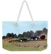Raking And Baling Hay In Texas Weekender Tote Bag