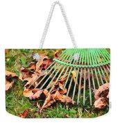 Raking The Fallen Autumn Leaves Weekender Tote Bag