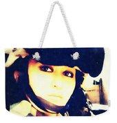 Ramadi Selfie Weekender Tote Bag by Michelle Dallocchio