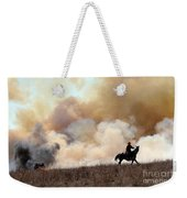 Rancher Starting A Controlled Burn Weekender Tote Bag
