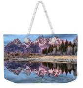 Grand Teton Snow Capped Reflections Weekender Tote Bag