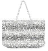 Random Text Weekender Tote Bag