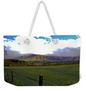 Range Neath The Mountain Weekender Tote Bag by DigiArt Diaries by Vicky B Fuller