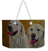 Ranger And Riley Waiting For A Command Weekender Tote Bag