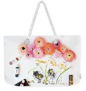 Ranunculus With First Watercolor Weekender Tote Bag