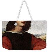 Raphael Portrait Of Agnolo Doni Weekender Tote Bag