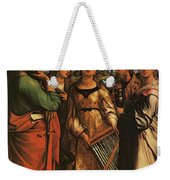 Raphael St Cecilia With Sts Paul John Evangelists Augustine And Mary Magdalene Weekender Tote Bag