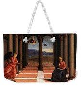 Raphael The Annunciation  Oddi Altar Predella  Weekender Tote Bag