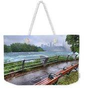 Rapids In The Rain Weekender Tote Bag