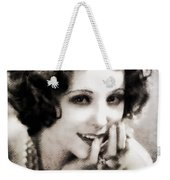 Raquel Torres, Vintage Actress Weekender Tote Bag