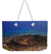 Rare Aerial View Of Extinct Volcanic Crater In Hawaii.  Weekender Tote Bag