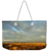rare Morning Rainbow Weekender Tote Bag