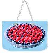 Raspberry And Blueberry Tart Weekender Tote Bag