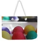 Raspberry And Hawaiian Surf Colored Easter Eggs Weekender Tote Bag