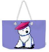 Raspberry Beret Westie Weekender Tote Bag