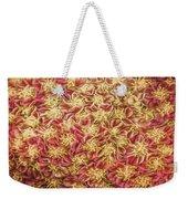 Raspberry Circles Weekender Tote Bag