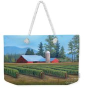 Raspberry Fields Forever Weekender Tote Bag