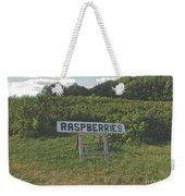 Raspberry Fields Three Weekender Tote Bag