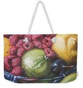 Raspberry Lime Weekender Tote Bag