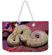 Rattlesnake In Abstract Weekender Tote Bag