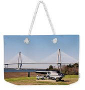 Ravanel Bridge From The Patriot Point Weekender Tote Bag