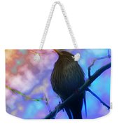 Raven In Spring Weekender Tote Bag