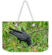 Raven In The Cherry Tree Weekender Tote Bag