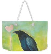 Raven In The Garden Weekender Tote Bag