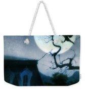 Raven Landing On Branch In Moonlight Weekender Tote Bag