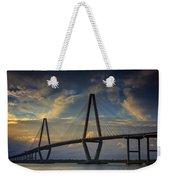 Ravenel Bridge Sunset Weekender Tote Bag