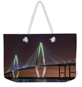 Ravenel Bridge Twilight Weekender Tote Bag