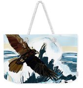 Ravens And The Stormy Sea Weekender Tote Bag