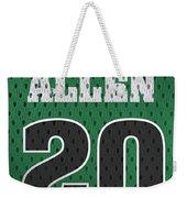 Ray Allen Boston Celtics Retro Vintage Jersey Closeup Graphic Design Weekender Tote Bag