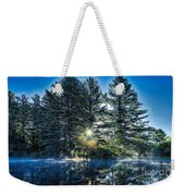 Rays Of Light On The Androscoggin River Weekender Tote Bag