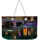Razzle Dazzle - Colorful Neon Lights Up Canals And Gondolas At The Venetian Las Vegas Weekender Tote Bag
